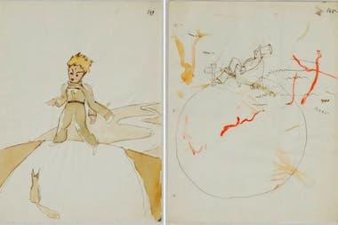 Bocetos originales que aparecieron hace 30 años en una subasta
