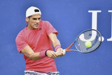 Federico Coria, en su primera participación en un Grand Slam
