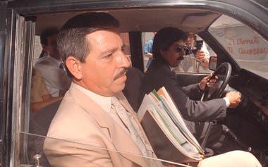 El juez Ortiz Iramaín, al llegar al edificio donde se celebraban las audiencias