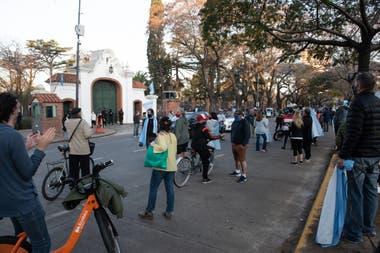 La protesta en Olivos