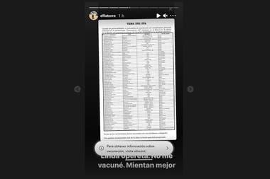 Diego Latorre desmintió estar en una lista de vacunados vip