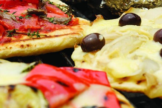 Receta de Pizzas a la parrilla