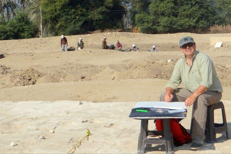 Reconstruyendo en un plano la planta de un tempo en Amarna