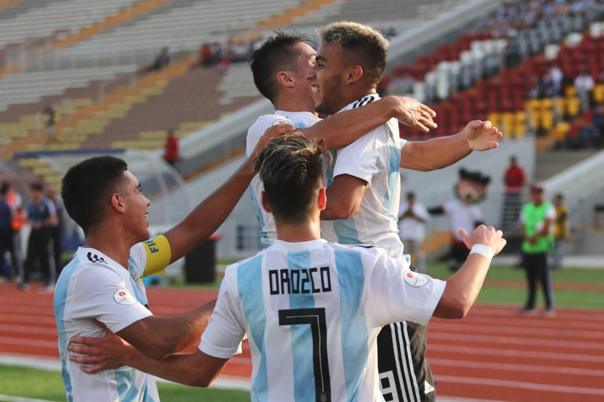Sudamericano Sub 17: la Argentina le ganó a Chile y quedó a un paso del Mundial