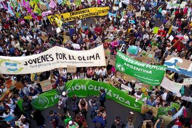 Marcha hacia el Congreso por el cambio climático