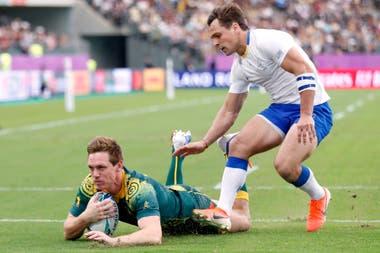 El primer try de Dane Haylett-Petty para Australia ante Uruguay.