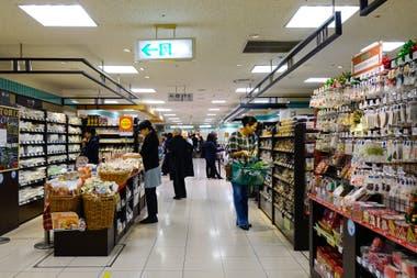 Un supermercado en la ciudad de Kyoto