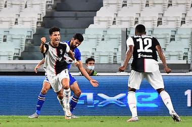 Cristiano Ronaldo abrió la cuenta este domingo para la victoria de Juventus sobre Sampdoria