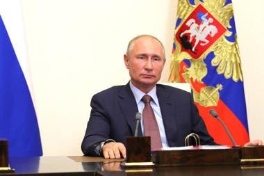 Vladimir Putin, ayer, al anunciar el registro de la vacuna contra el coronavirus