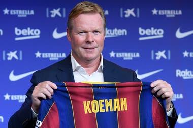 Koeman fue presentado en Barcelona el 19 de agosto y pidió por la continuidad de Messi