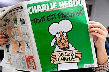 Una de las famosas caricaturas de Mahoma en Charlie Hebdo