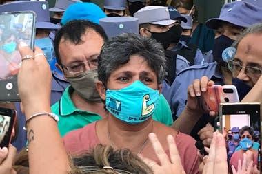 La concejala Gabriela Neme, tras ser liberada