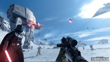 Una vista del Star Wars Battlefront