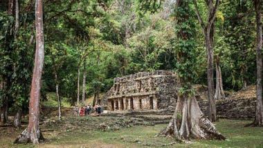 Ruinas mayas de Yaxilan en Chiapas.