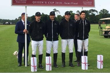 La Indiana, el otro finalista de la Queens Cup, con Facundo Pieres (izquierda) como líder