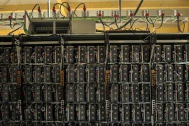 """Computadoras de una """"mina"""" de criptomonedas"""