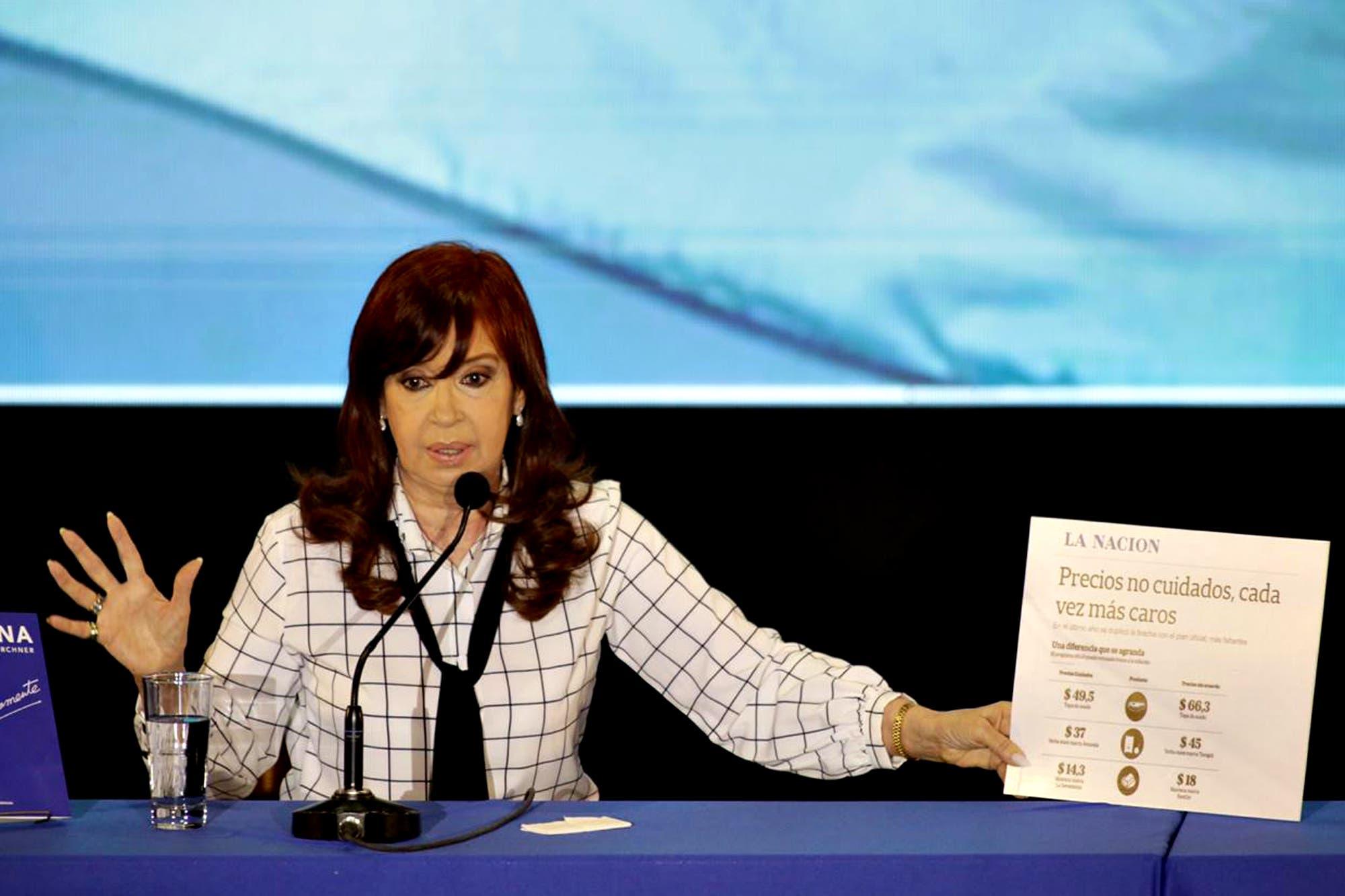 Precios Esenciales. El error de Cristina Kirchner sobre la cobertura de LA NACION
