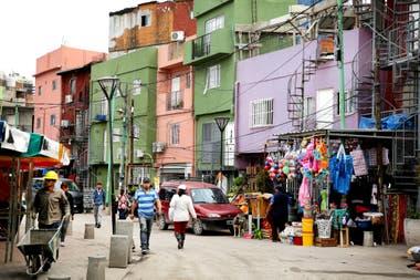 Una calle de la villa 31