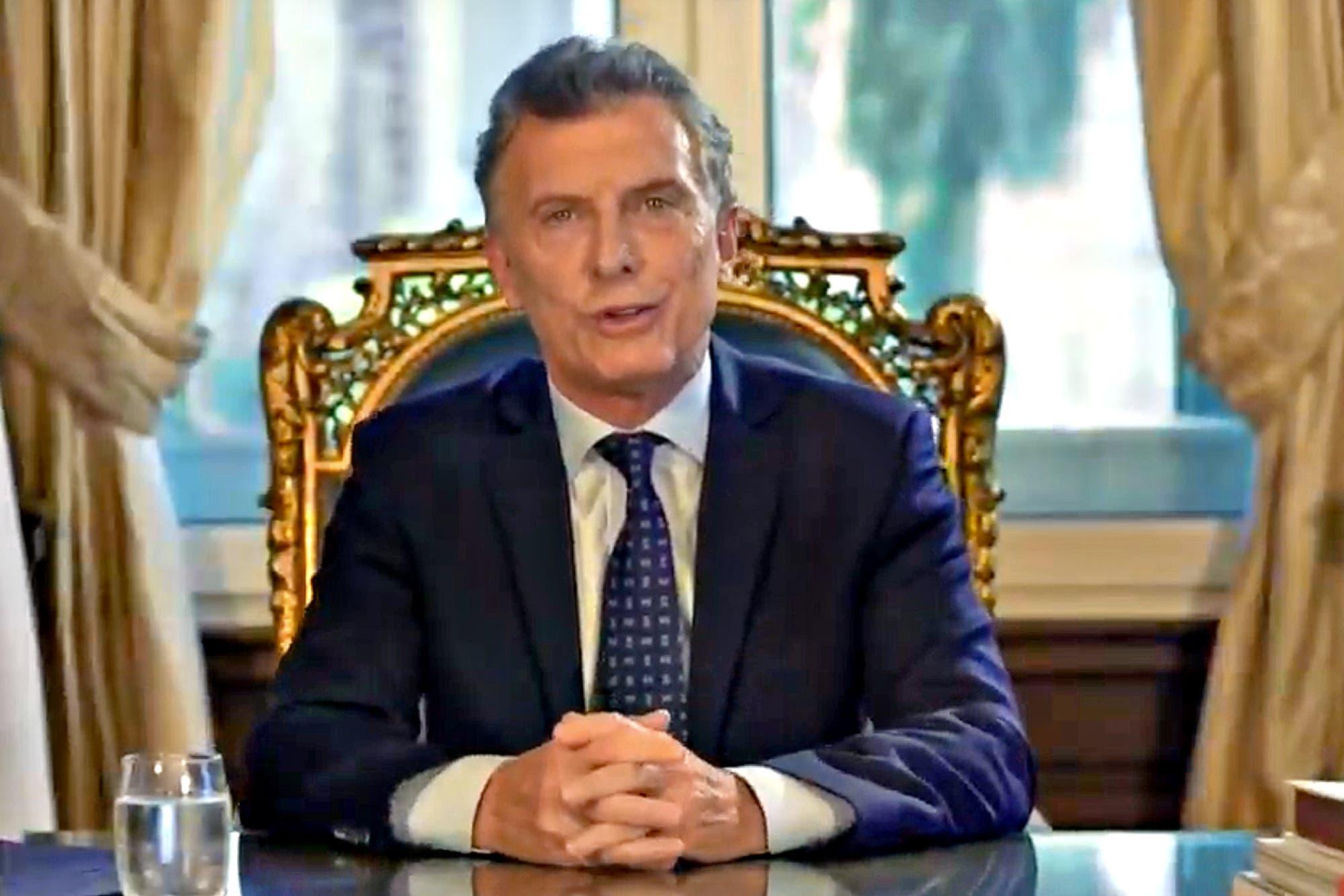 """Mauricio Macri habla por cadena nacional: """"El país de hoy es muy distinto respecto de 2015"""""""