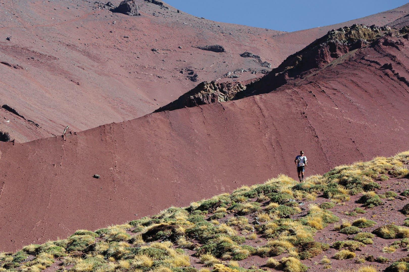 El pasado 22 de febrero, Juan Gabriel Gutiérrez recorrió los 100 kilómetros del Aconcagua Ultra Trail.