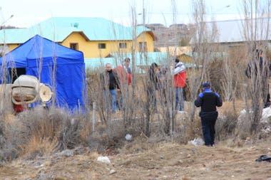 El sitio donde fue hallado el cuerpo de Gutiérrez, el sábado pasado