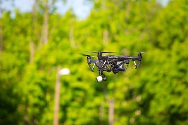 Drone en el campo