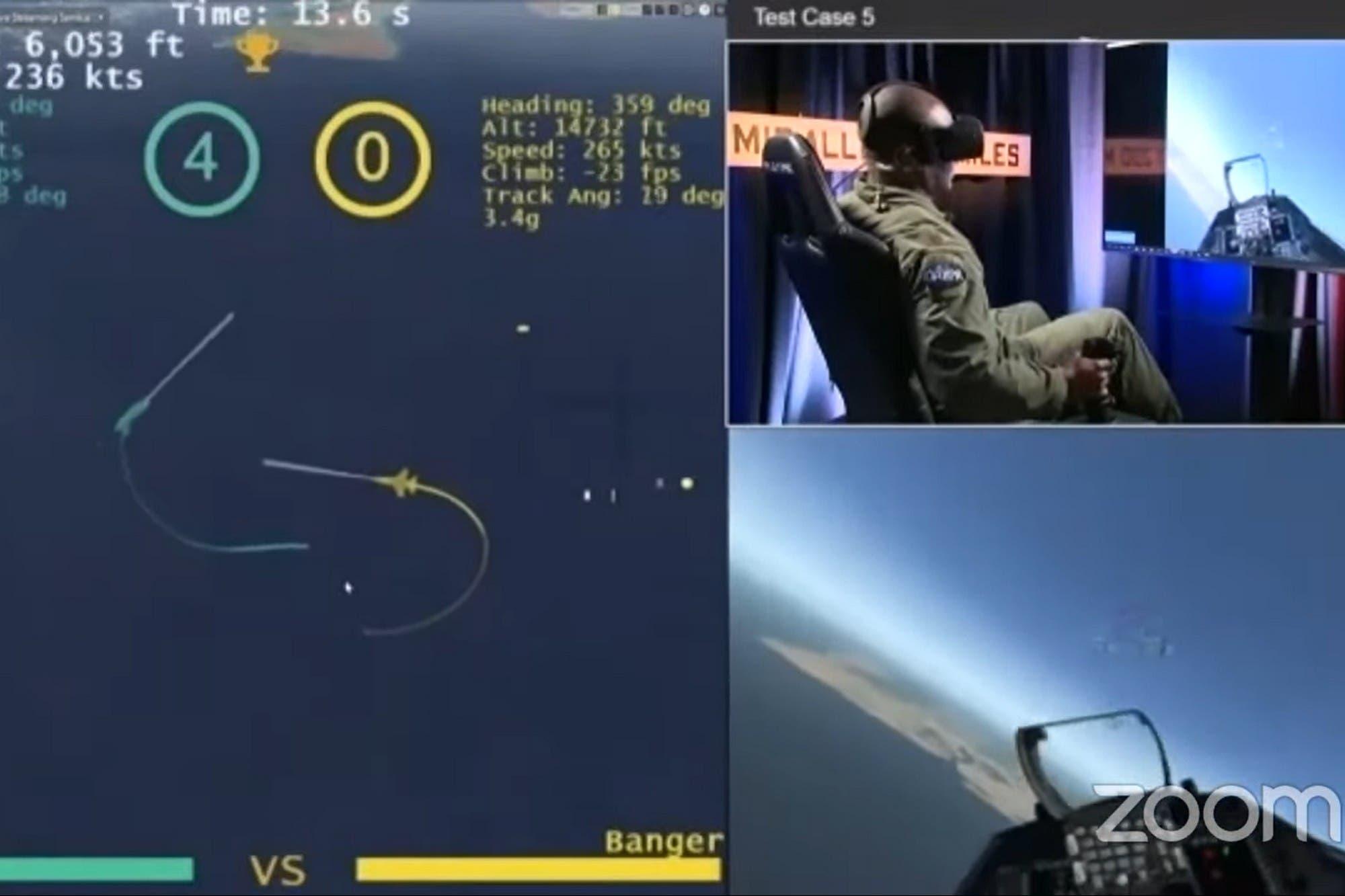 Un sistema de inteligencia artificial venció a un piloto humano de un F-16 en un combate simulado