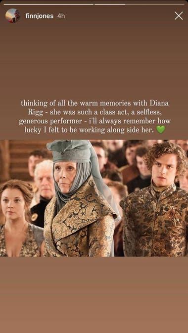 El mensaje de Finn Jones, que interpretó a Loras Tyrell en la serie