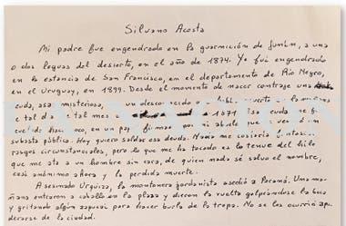 Jorge Luis Borges dictó a María Kodama este texto el 19 de noviembre de 1985. Moriría en Ginebra unos meses más tarde, el 14 de junio de 1986. La historia real de un desertor y la culpa por un fusilamiento que ordenó su abuelo, el coronel Francisco Borges, sale a la luz aquí por primera vez