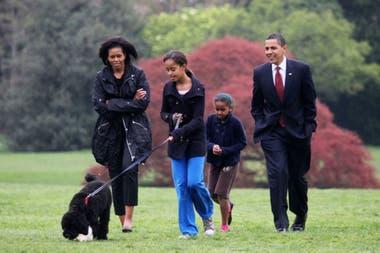Barack Obama y familia, en sus tiempos en la Casa Blanca