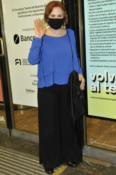 Leonor Manso, apoyando la vuelta de las obras