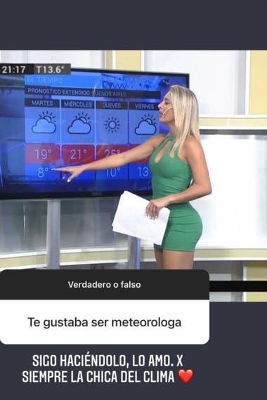 Sol Pérez fue consultada sobre su rol como columnista sobre cuestiones meteorológicas