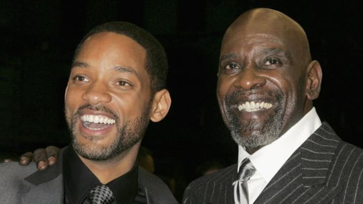 Chris Gardner con Will Smith, quien lo interpretó en la pantalla gigante.