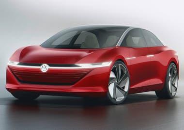 Volkswagen I.D.Vizzion. La marca alemana apuesta por formas cada vez más limpias para sus futuros autos eléctricos
