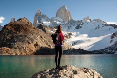 La laguna de los tres en el Parque Nacional Los Glaciares.