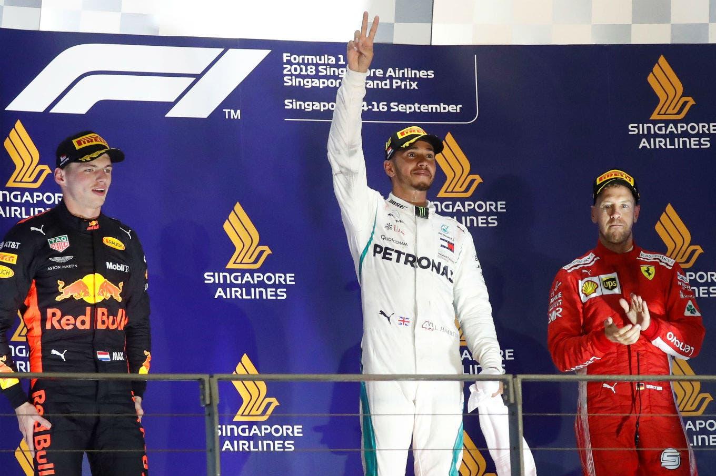 Fórmula 1: Lewis Hamilton ganó el Gran Premio de Singapur y le sacó 40 puntos a Sebastian Vettel