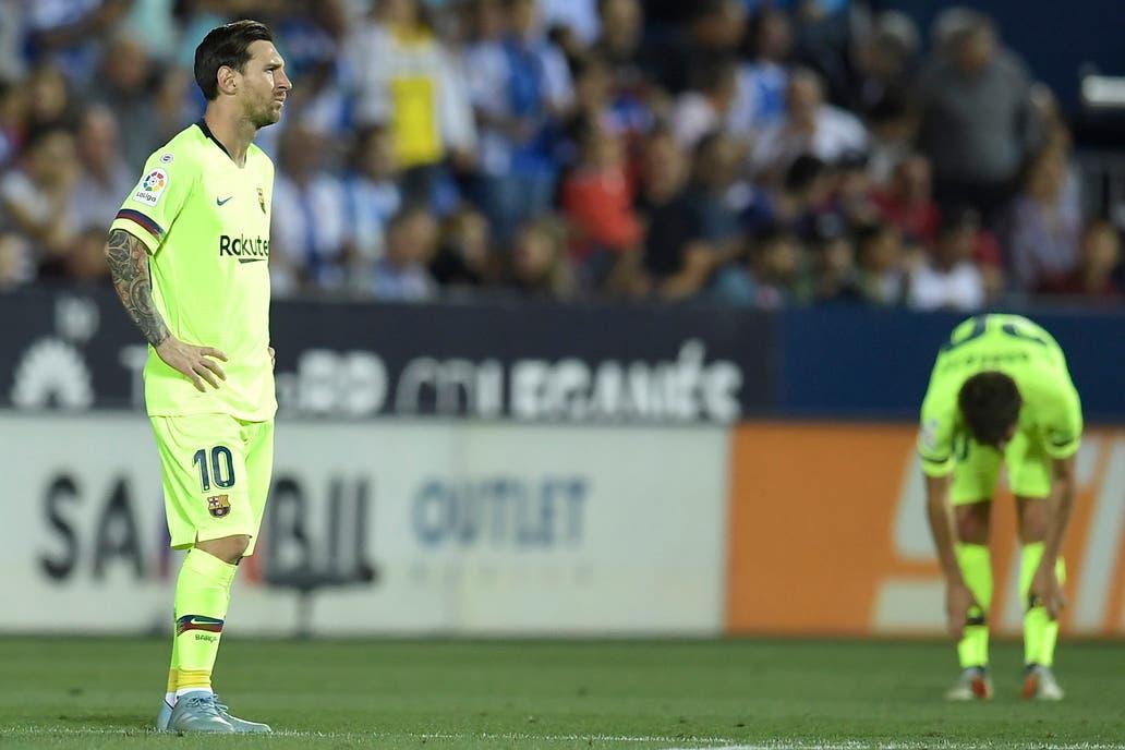 Leganés Barcelona El Equipo De Messi Perdió El Invicto Ante Los