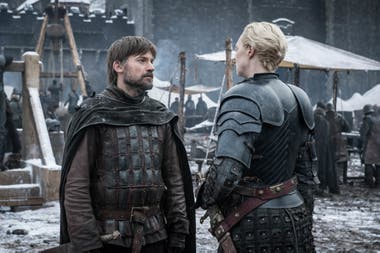 Jamie Lannister y Brienne de Tarth, reunidos antes de la gran batalla