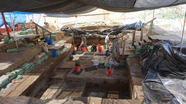 Sitio arqueológico donde fueron descubiertas las herramientas de piedra y otros hallazgos