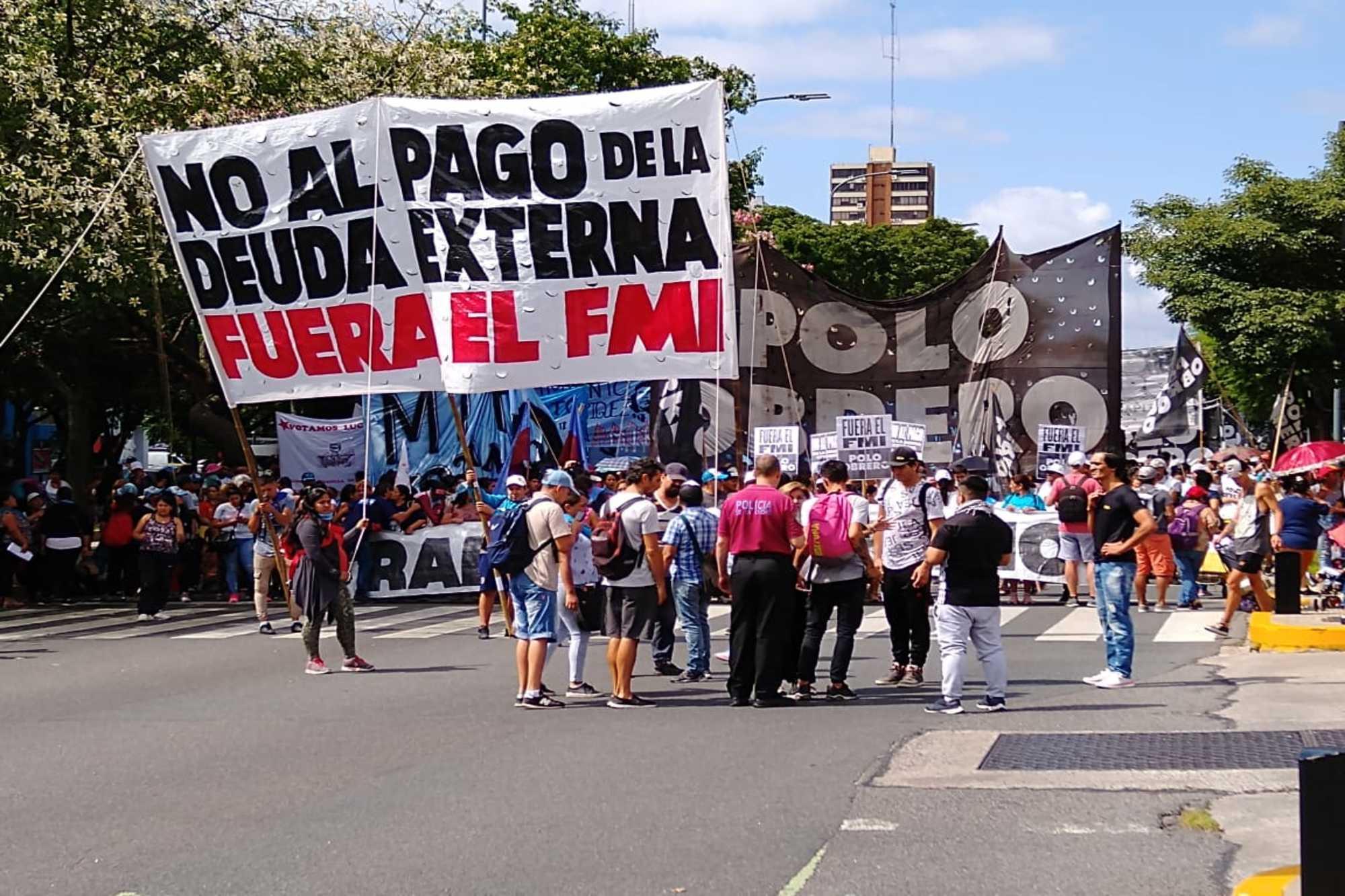 El Polo Obrero activó la primera protesta con reclamos a la gestión de Alberto Fernández