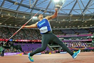 Braian Toledo, en acción: buscaba la clasificación olímpica para Tokio 2020