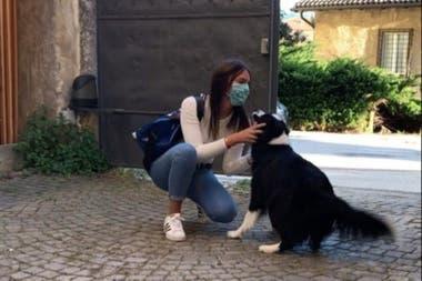 La emoción de la perra al encontrarse con su dueña se viralizó en las redes sociales