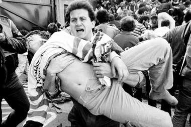 El caos tras la tragedia en el estadio de Heysel