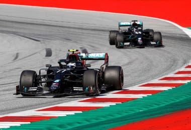 La persecución de Hamilton a Bottas