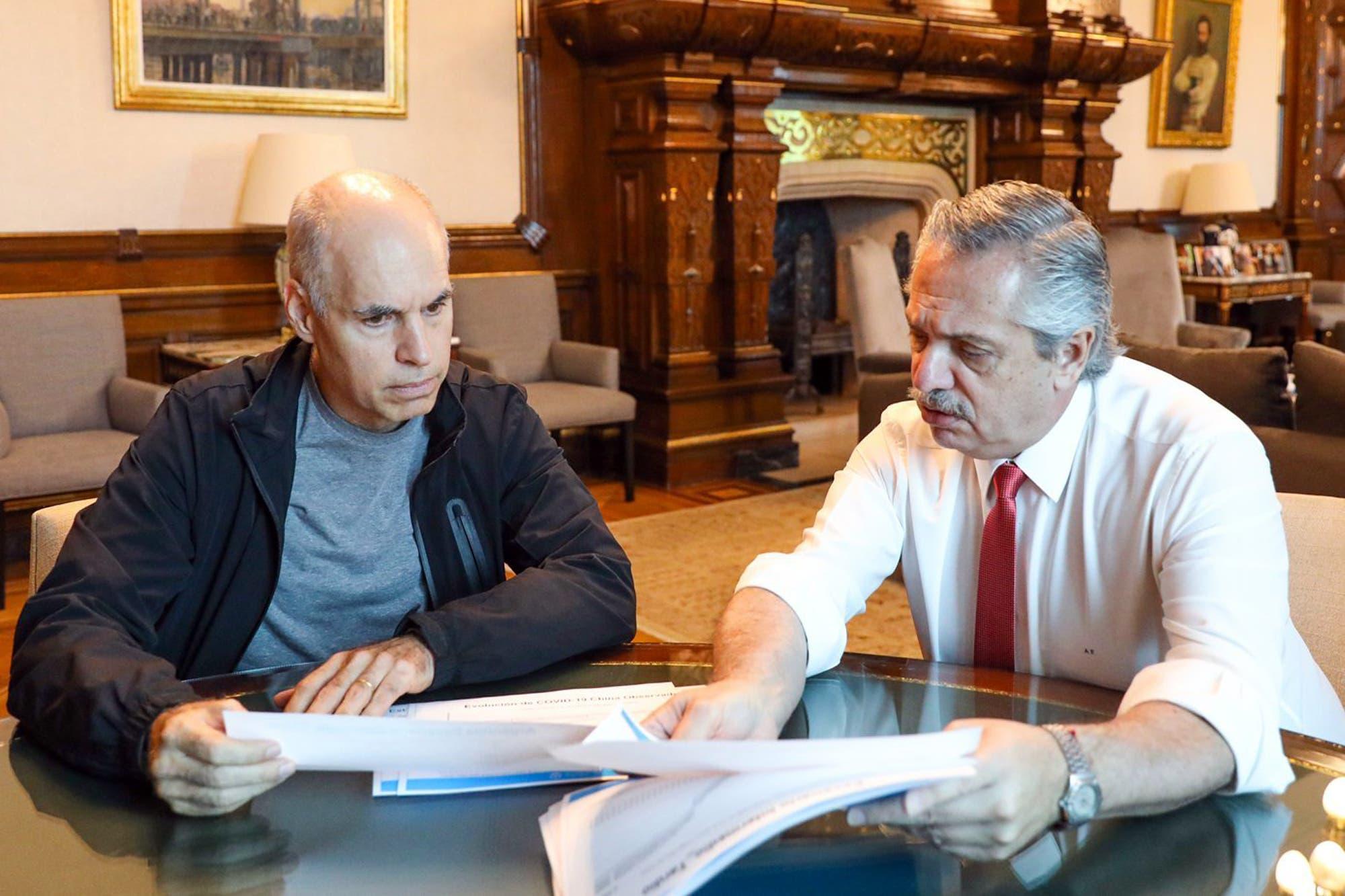 Alberto Fernández y Horacio Rodríguez Larreta no rompen el diálogo, pero la tensión por los recursos anticipa nuevos choques
