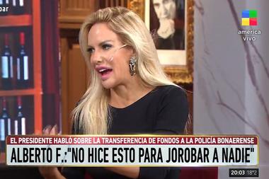 """La modelo Luciana Salazar dijo que Fernández al bajar el porcentaje de la coparticipación de la Ciudad """"le quitó lo que el anterior le dio"""" y tildó al gesto de """"político"""""""