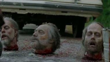 A la derecha de la imagen, la peculiar cabeza inspirada en el actor