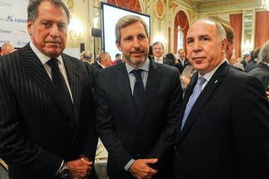 Jorge Brito, el exministro del Interior Rogelio Frigerio y el juez de la Corte Suprema Ricardo Lorenzetti
