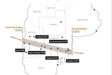 Un eclipse solar total puede verse en una parte de Argentina y Chile
