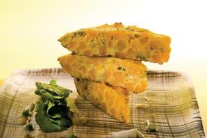 Tortilla de calabaza y cebolla